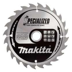 Lame de Scie Circulaire Carbure Makita B-09167 Ø 165mm x 20mm 24 Dents