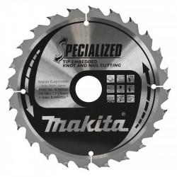 Lame de Scie Circulaire Carbure MAKITA B-33118 Ø 190mm x 30mm 24 Dents