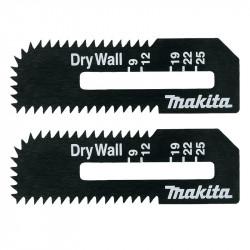 Lot de 2 lames plaque de plâtre MAKITA B-49703 pour DSD180