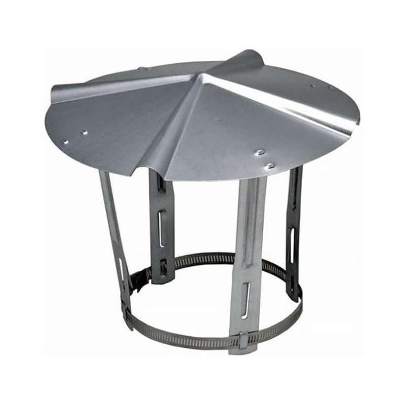 Chapeau simple paroi aluminé pour chauffage SOVELOR