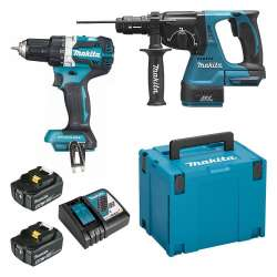 Pack de 2 machines MAKITA DLX2191TJ (DDF484 + DHR243) 18V Li-Ion (2x5Ah)