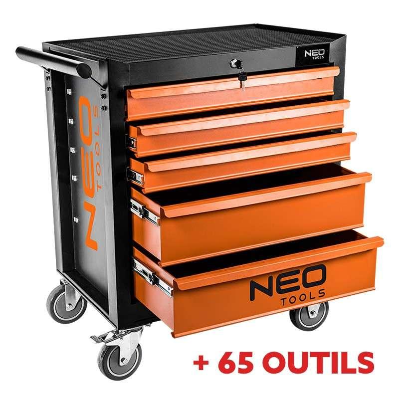 pack servante d 39 atelier 5 tiroirs avec insert outils neo. Black Bedroom Furniture Sets. Home Design Ideas