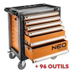 Pack servante d'atelier 6 tiroirs avec insert à outils NEO TOOLS 84-223 SET