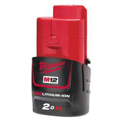 BATTERIE MILWAUKEE M12 B2 M12™ RED LITHIUM 2.0AH