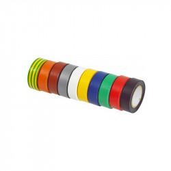 Lot de 10 rubans d'isolation KS Tools 141.6010 en PVC multicolor