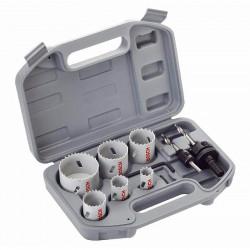 Coffret scies-trépans bi-métal HSS BOSCH 2608580868 spécial électricien 9 pièces