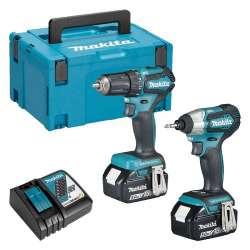 Pack 2 outils MAKITA DLX2220TJ (DDF483 + DTD155) 18 V LXT Li-ion (2 x 5 Ah)