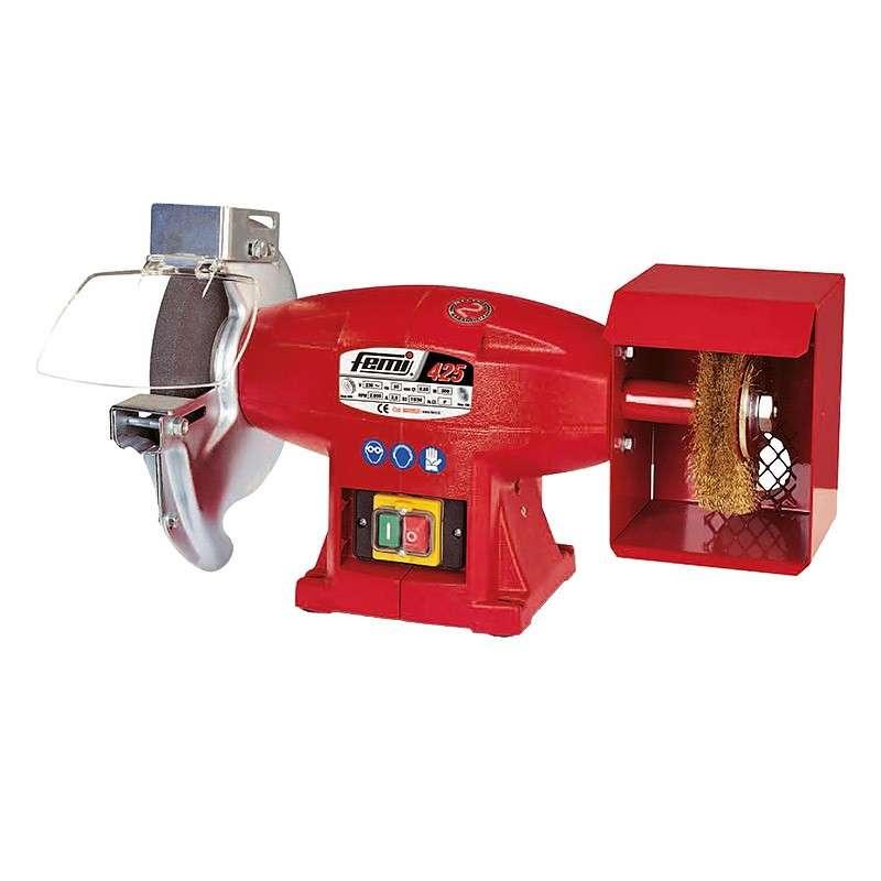 Touret à meuler et brosser avec meule et brosse 500W FEMI 425