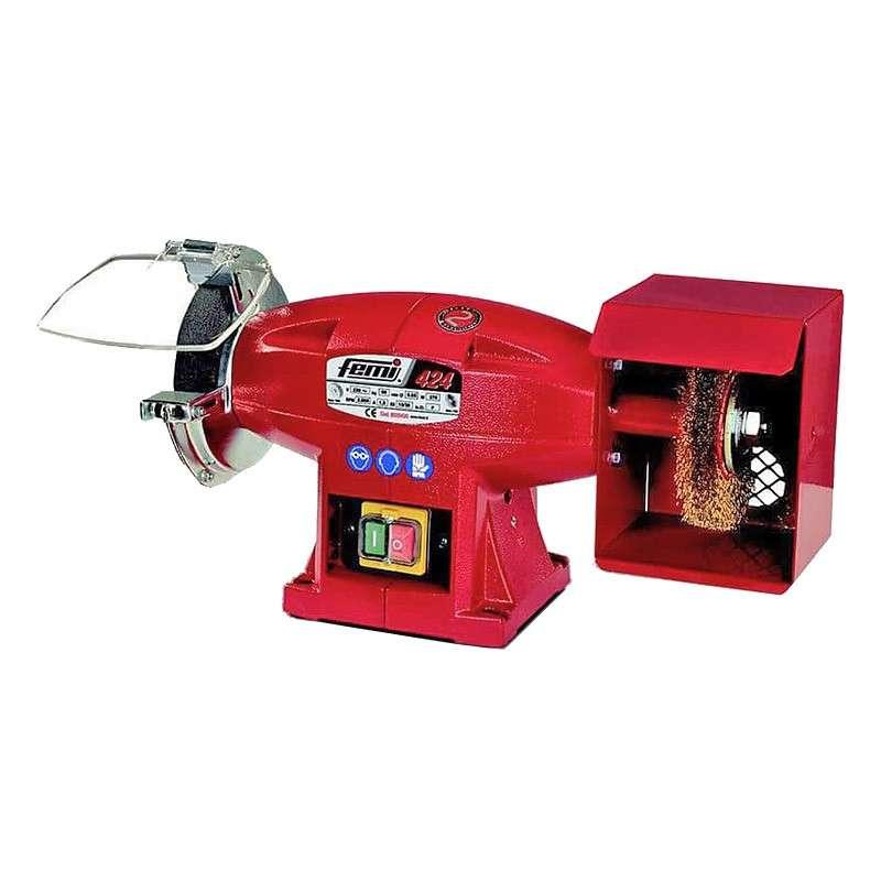Touret à meuler et brosser avec meule et brosse 370W FEMI 424