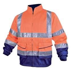 Veste de travail haute visibilité orange DELTAPLUS