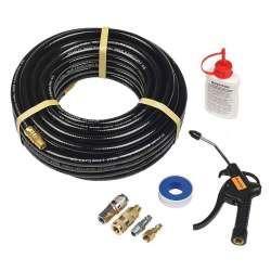 Kit tuyau à air comprimé BOSTITCH CPACK15 (souflette + enrouleur + lubrifiant)