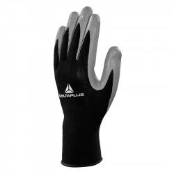 Lot de 10 paires de gants de manutention tricot polyester paume nitrile DELTAPLUS VE712GR