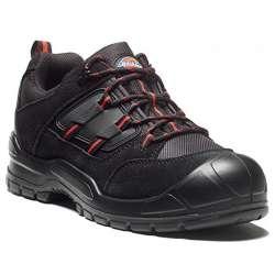 Chaussures de sécurité basses DICKIES EVERYDAY - S1P SRC - noir/rouge