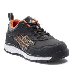 Chaussures de sécurité basses femme DICKIES ELORA - S3 SRC - noir/orange