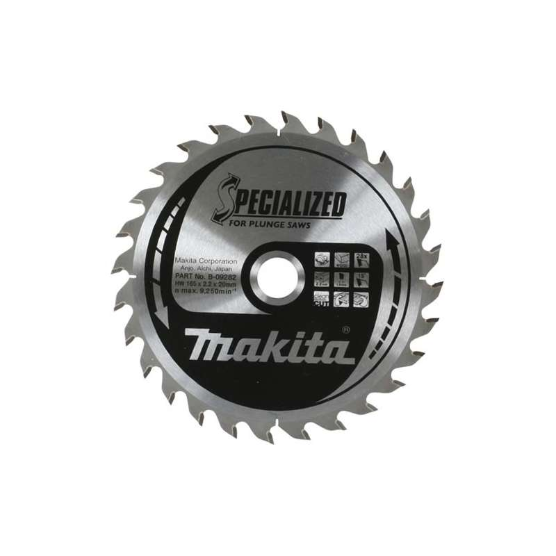 LAME DE SCIE CIRCULAIRE CARBURE MAKITA A-89632 Ø 165MM X 20MM 24 DENTS Special SP6000K