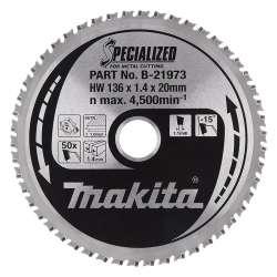 Lame carbure MAKITA B-21973 Specialized Ø 136mm Tôles minces pour scies circulaires à métaux à batterie
