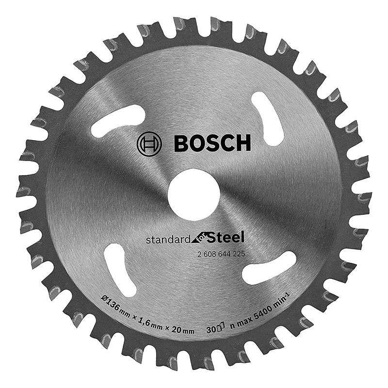 Lame BOSCH 2608644225 Ø 136mm 30 dents pour scies circulaires à métaux à batterie