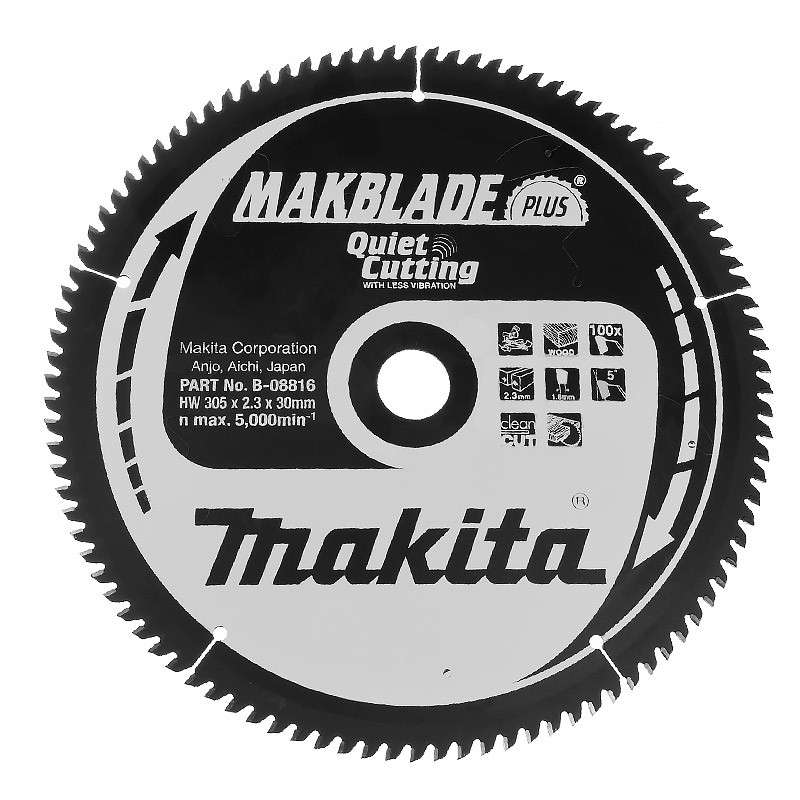 Lame Makita B-08816 Makblade Plus 305x30 100T Bois
