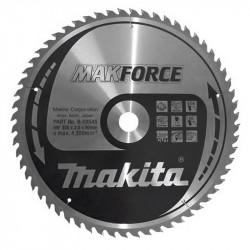 Lame Carbure Bois MAKITA MakForce B-08545 355 mm pour Scie Circulaire 60 Dents