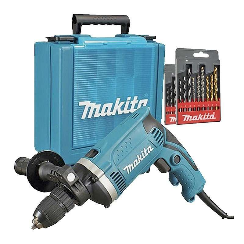 makita hp1631ksp perceuse percussion 710 w 13 mm racetools. Black Bedroom Furniture Sets. Home Design Ideas