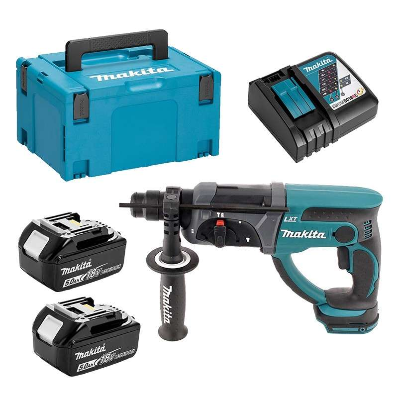 Makita DHR202RTJ Perfo-burineur SDS-PLUS 18V 2x5.0Ah LXT