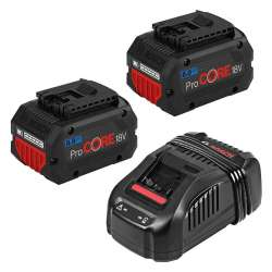 Kit 2 batteries BOSCH ProCORE18V 8.0Ah Professional + 1 chargeur BOSCH GAL 1880 CV Professional