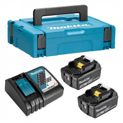 Pack MAKITA 197624-2 (Chargeur DC18RC + 2 Batteries BL1850B + Mak-Pac)