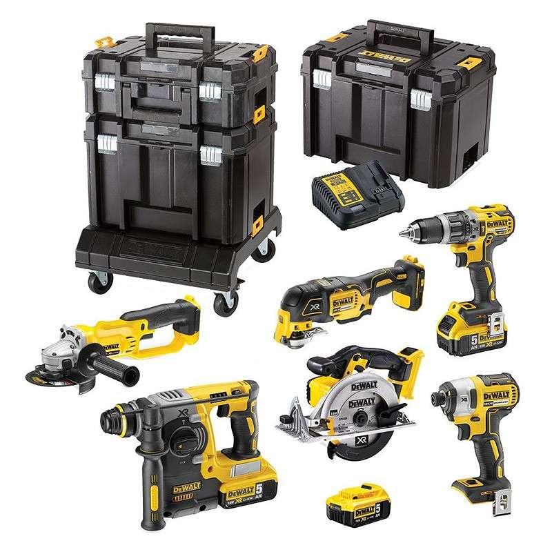 Pack 6 outils DEWALT DCK654P3T XR 18V Li-Ion (3x5,0Ah) en TSTAK
