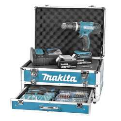 Visseuse-perceuse à percussion MAKITA DHP453RFX2 à batteries LXT 18V (2 X 3,0Ah)