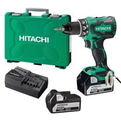Perceuse visseuse brushless 18 V 2 x 5.0 Ah HITACHI DS18DBSL5A