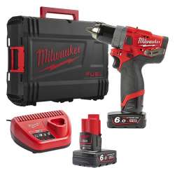Perceuse visseuse Milwaukee FUEL M12 CDD-602X 12V Li-Ion (2x6.0Ah)