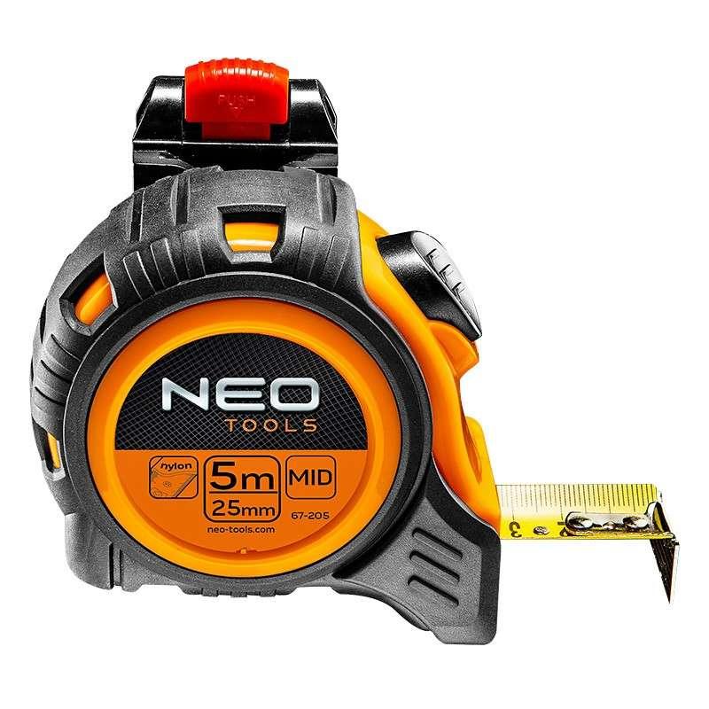 Mètre à ruban 5 m avec clips ceinture NEO TOOLS 67-205