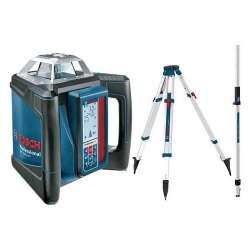 Laser rotatif à pente BOSCH GRL 500 HV + LR 50 Professional avec Trépied BT 170 HD et Mire