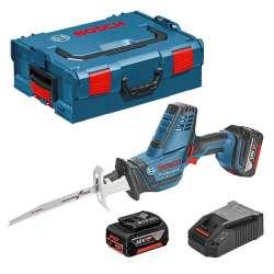 Scie sabre sans fil BOSCH GSA 18 V-LI C Professional (2 x 4,0Ah) + L-Boxx