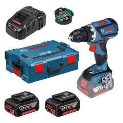 Perceuse-visseuse sans fil BOSCH GSR 18V-60 C Professional (2x5,0Ah) + L-Boxx