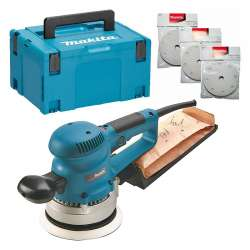 Ponceuse excentrique MAKITA BO6030JX 310 W – Ø 150 mm