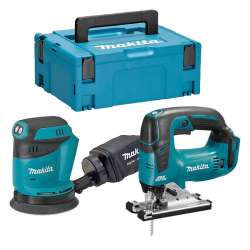 Pack 2 Machines MAKITA DLX2276J (DJV182Z + DBO180Z) (Machines Nues)