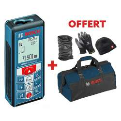 Télémètre laser BOSCH GLM 80 Professional + Kit Hiver + Sac Outils