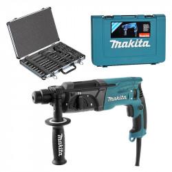 Perforateur burineur MAKITA HR2470 SDS-Plus 780W + Coffret 17 pièces D-42444
