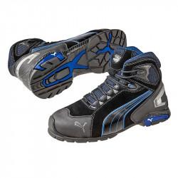 Chaussures de Sécurité Montante PUMA Metro Protect 63.225.0 Rio Black MID S3 SRC noire / Bleue