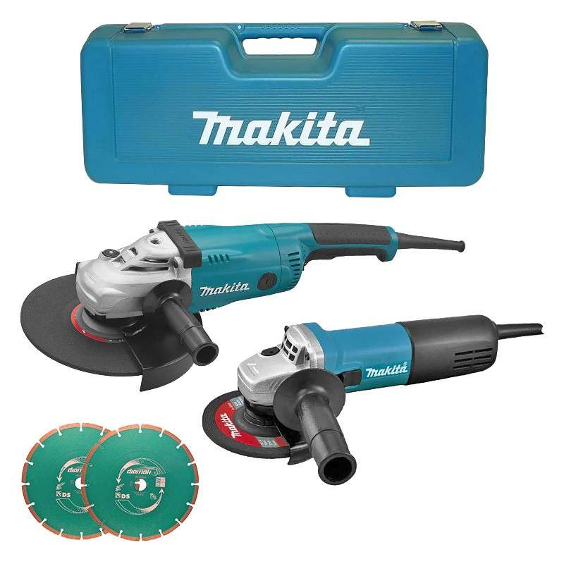 Ensemble Makita DK1163X DUO meuleuses GA9020 + 9558NB