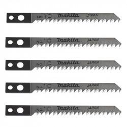 Lot de 5 lames MAKITA A-85818 coupe rapide pour bois, contre-plaqué et PVC (4 à 50 mm)