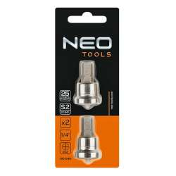 Lot de deux embouts de visseuse placo 1/4 NEO TOOLS 06-040