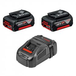 Pack 2 Batteries BOSCH GBA 18 V 5,0 Ah + Chargeur BOSCH GAL 1880 CV