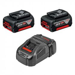 Pack 2 Batteries BOSCH GBA 18 V 6,0 Ah + Chargeur BOSCH GAL 1880 CV