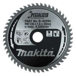 Lame de scie circulaire SPECIALIZED ALUMINIUM MAKITA B-40294 Ø 136mm