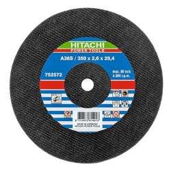 Disque à tronçonner HITACHI 752572 métal Ø 350 x 2,6 plat