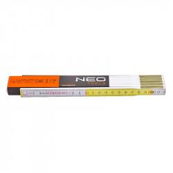 Mètre pliant 2 m NEO TOOLS 74-020 blanc et jaune