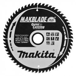 Lames Carbure MAKITA B-08676 Makblade Plus Bois Ø 216 mm 60 dents pour scies radiales et à onglets