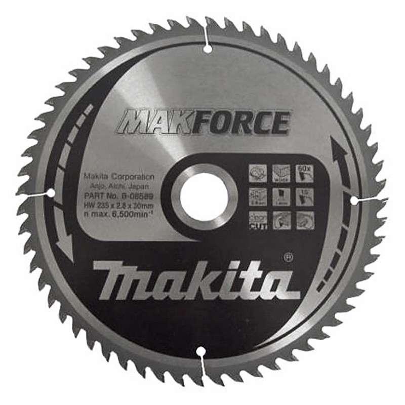 Lame carbure MakForce MAKITA B-08589 pour bois, pour scies circulaires
